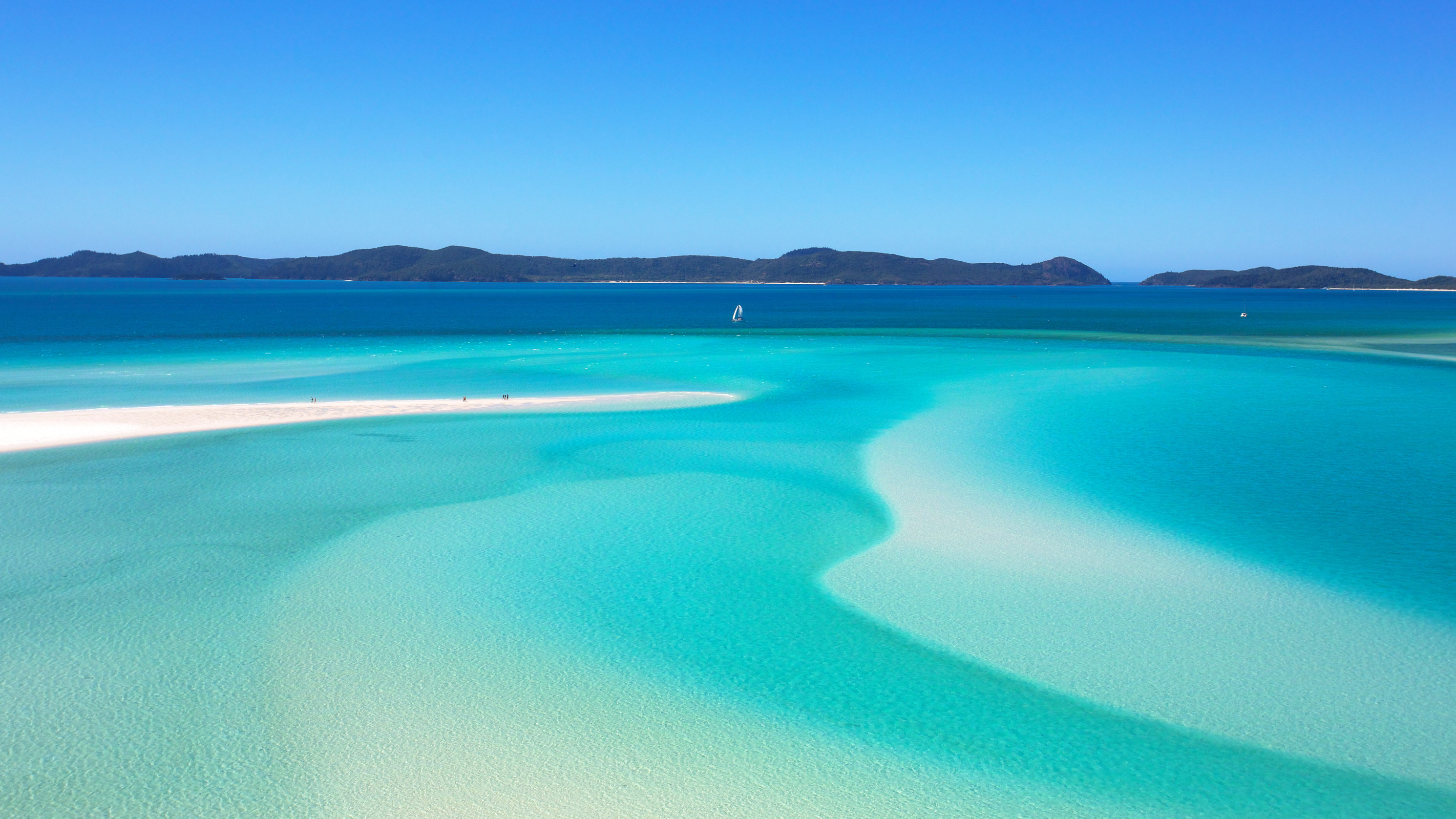 White sand island.