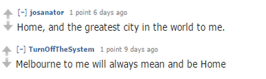 Reddit users were quick to discuss why people move to Melbourne