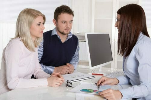 Partners at a Consultation Meeting with a TrueBlue Agent
