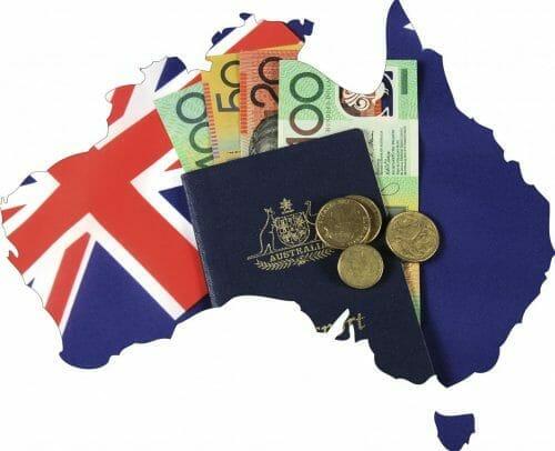 Money and Australian Passport.
