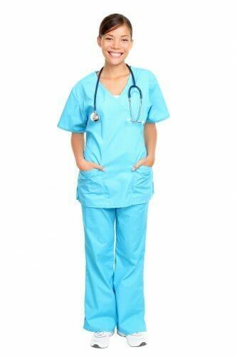 Nurse smiling.